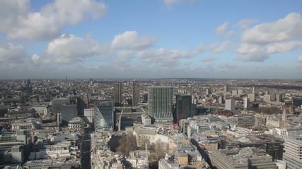 London Skyline aerial moving down
