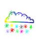 canvas print picture - farbige Schneewolke...