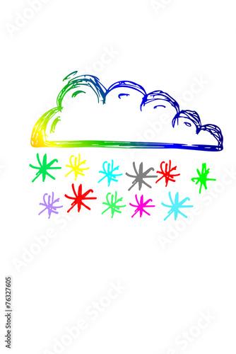 canvas print picture farbige Schneewolke...