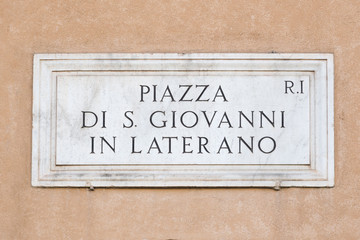 Roman signboard