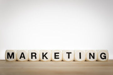 Marketing concept: the word Marketing spelled out