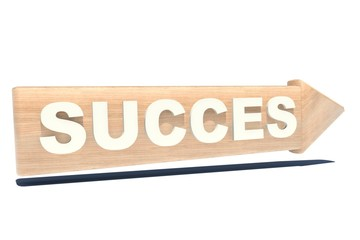 Way to Succes Sign in Wood