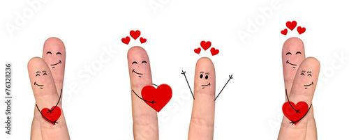 Happy para palca w miłości świętuje Walentynki