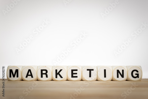Marketing concept: the word Marketing spelled out - 76328278