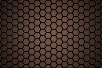 Abstract Hexagon Wall