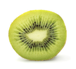 Cut kiwi in closeup