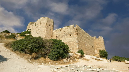 Medieval Castle of Kritinia in Rhodes, Greece
