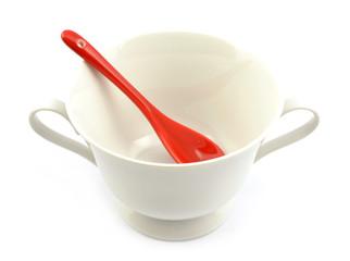 miseczka na zupe z łyżką