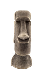 Mayan stone statue isolated