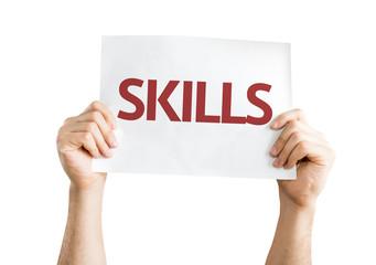 Skills card isolated on white background