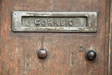 old portuguese letterbox.