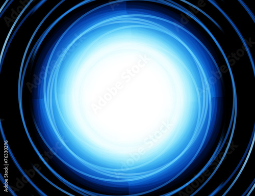 Aluminium Abstract wave Abstract Blue Background