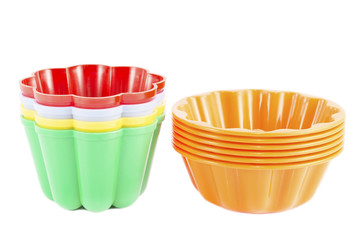 Colorful pudding molds