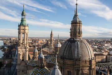 basilica del pilar en zaragoza españa