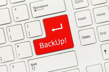 White conceptual keyboard - Backup (red key)