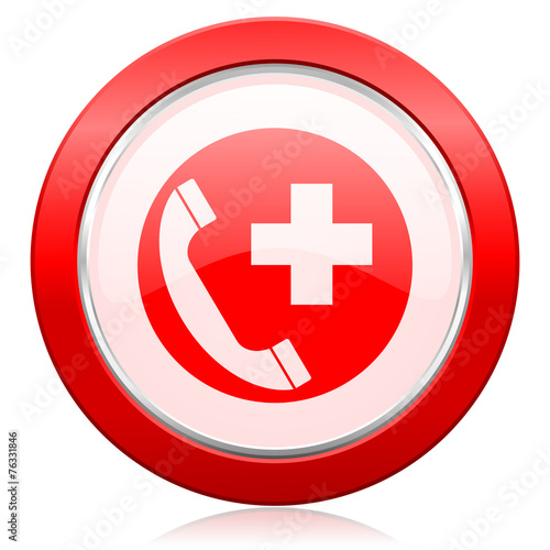 Leinwandbild Motiv emergency call icon