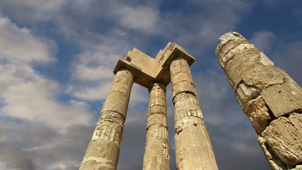 Apollo Temple at the Acropolis of Rhodes, Greece