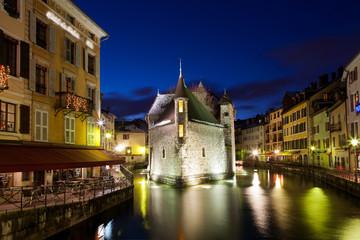 Annecy im Winter, Frankreich