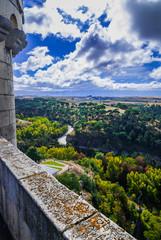 Views of Segovia,Spain from high atop Alcazar.