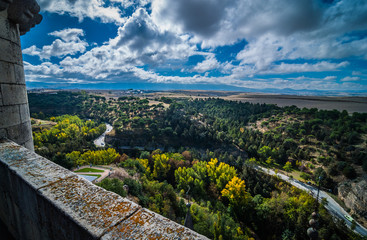 Views of Segovia,Spain from high atop Alcazar.