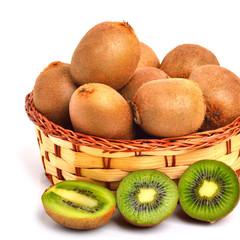 kiwi fruit on the basket