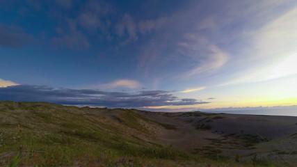 Philippines sand dunes sunset time lapse