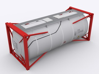 Roter Tanktainer