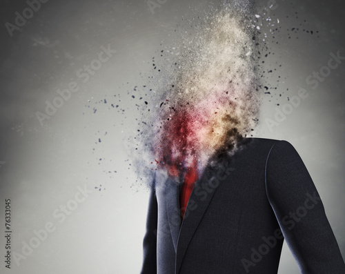 Leinwandbild Motiv Overworked businessman