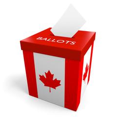 Canada election ballot box for collecting votes