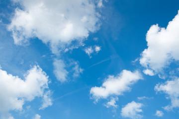 Sunny daylight sky with clouds..