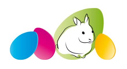 Weißes Häschen - Frohe Ostern