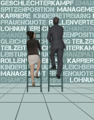Karriereleiter der Geschlechter