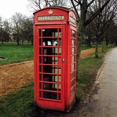 phone booth in Hyde Park, London