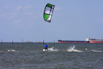 kitesurfer in Chesapeake bay