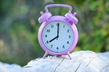 alarm clock outdoors