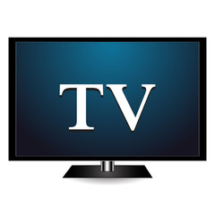 Screen with a shadow on a white background with a TV icon