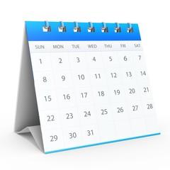 3D calendar showing valentine's day