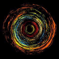 abstract plasma color circle vector