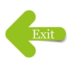 exit arrow sign vector