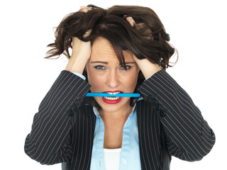 Frustrated Young Business Woman