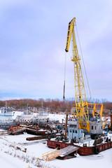 image of port cranes