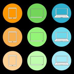 Icons of home appliances. Vector.