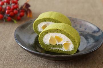 Matcha Green Tea Roll Cake