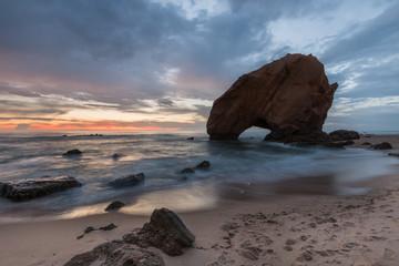 O rochedo de Santa Cruz