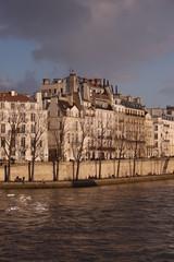 Building in Paris during winter