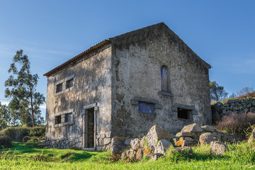 Ancient abandoned traditional house. In Portugal.