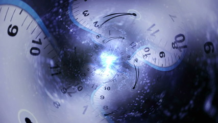 Clock Tunnel, Travel Time Concept, with Light