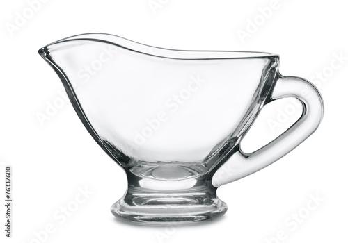 Empty glass sauce boat - 76337680