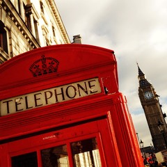 phone booth  with the Big Ben