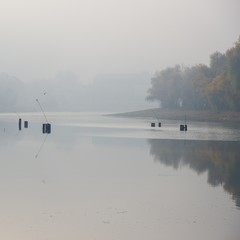 River Kuban early in the morning